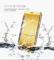 Beworlder For Oppo R9 X9009 5.5'' Window Clean View Mirror PU Leather Flip Plastic Smart Touch Cover Phone Cases