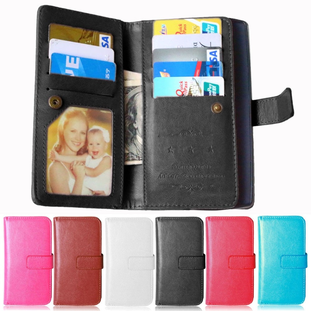 Business PU Leather Wallet Case For LG Optimus G4 Capa Flip Book Style Case Cover For LG G4 Photos Frame Fundas Coque Card Slot
