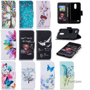 Butterfly Flip Phone Case SFor Capa LG K8 2018 Card Slot Case Estuche Jewelled Silicone Cover For LG K8 2018 Carcasa De Telefon