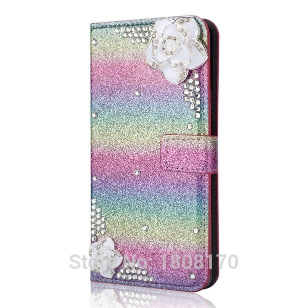C-ku Bling Glitter Diamond Wallet Leather Case For Samsung Galaxy S9 S8 Plus S7 Edge J330 J530 J730 NOTE8 A8 2018 Cover 1pcs