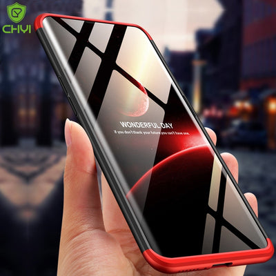 CHYI 360 Protection Built-in Case For OPPO Find X Ultra-thin Matte Anti Fingerprint Case Magnetic Design Fit Telescopic Camera