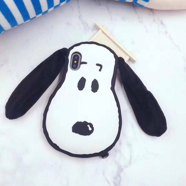 Cartoon Rubber Phone Case For IPhone 8 7 7 Plus Cute Dog Silicone Cover For Phone X 6 6S Plus Protective Shell