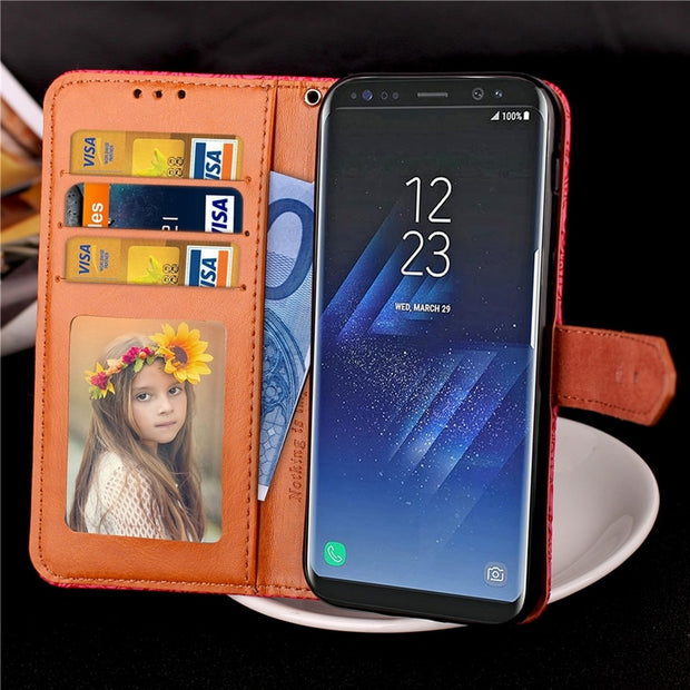 Case For Coque Samsung Galaxy S8 Case Cover For Samsung S8 Case With Stand Card Holder For Galaxy S8 Case Capinha Etui