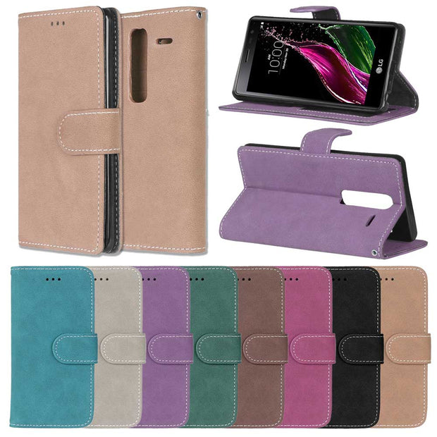 Case For LG G2 G3 G4 G5 V10 Cover Flip Card Slot Stand Holder Leather Frosted Phone Case Funda For LG G2 G3 G4 G5 V10 KimTHmall
