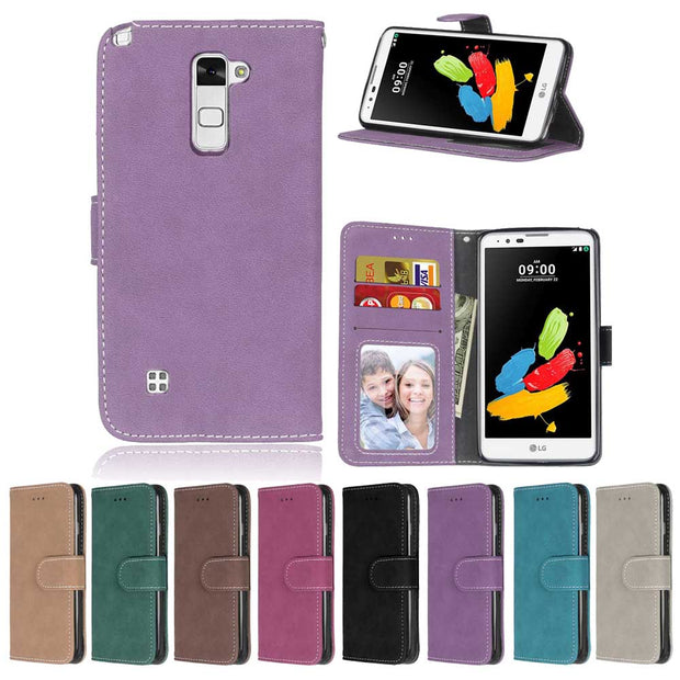 Case For LG Spirit 4G LTE H420 H422 H440N C70 Cover Flip Card Slot Stand Holder Leather Frosted Case For LG Spirit KimTHmall