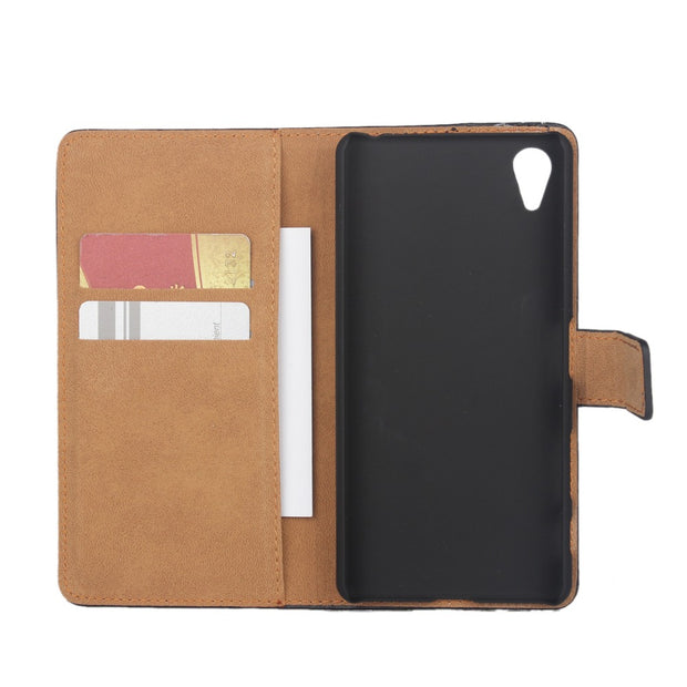 Case For Sony Xperia X XA XZ Compact Performance Flip Card Slot Stand Holder Leather Hard Phone Case For Sony X XA XZ KimTHmall