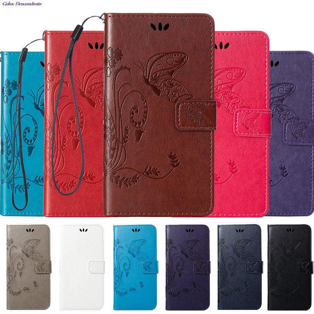 separation shoes ae7f3 87b2c Case For Huawei Y6 II Y6II CAM-L32 CAM-L21 Leather Flip Cover Wallet Case  For Huawei Y 6 II CAM-L23 CAM-L03 Mobile Phone Bags