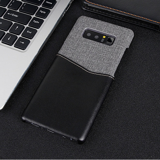 Case For Samsung Note 8 Canvas Leather Wallet Credit Card Holder Protective Cover For Samsung Galaxy Note 8 S8 S9 S8 Plus Coque