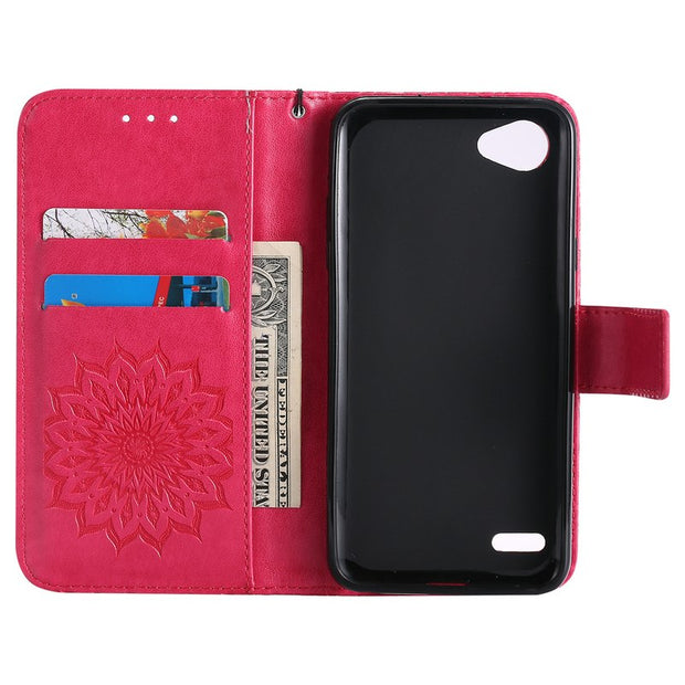 Coque For LG Q6 Case Luxury Leather Wallet Mini Purse Flip Phone Holder Armor For LG Q6 Cover Funda LG Q6 Smarphone Cases