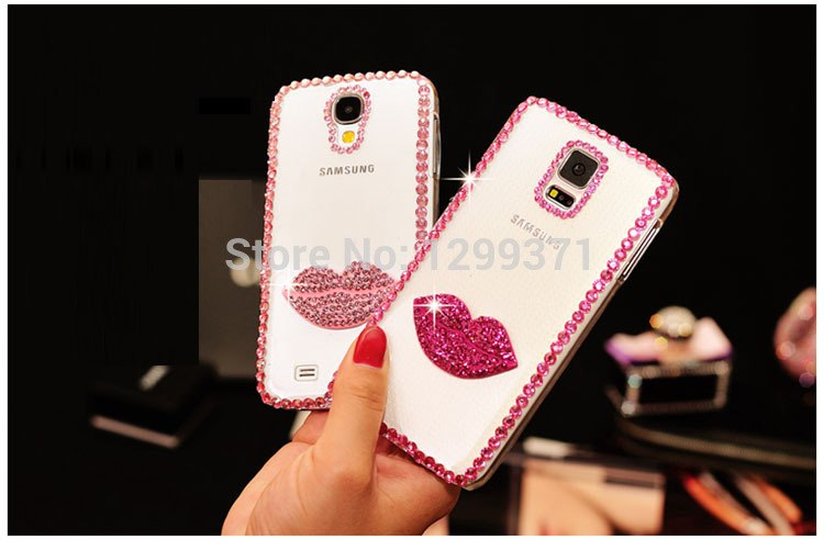 Dower Me For Samsung Galaxy S9/8/7/6 Edge Plus S5/4/3 Note 8 5 4 3 2 Fashion Bling Sexy Kiss Lip Diamond Crystal Case Cover