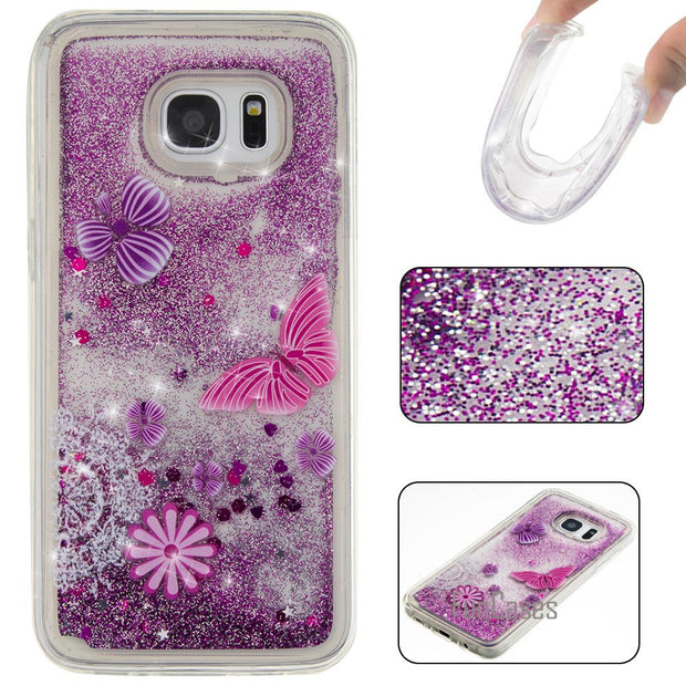 "Dynamic Liquid Quicksand Case For Fundas Samsung Galaxy S7 Edge Case S7 Edge G9350 5.5"" For Coque Samsung S7 Edge Case Quicksand"