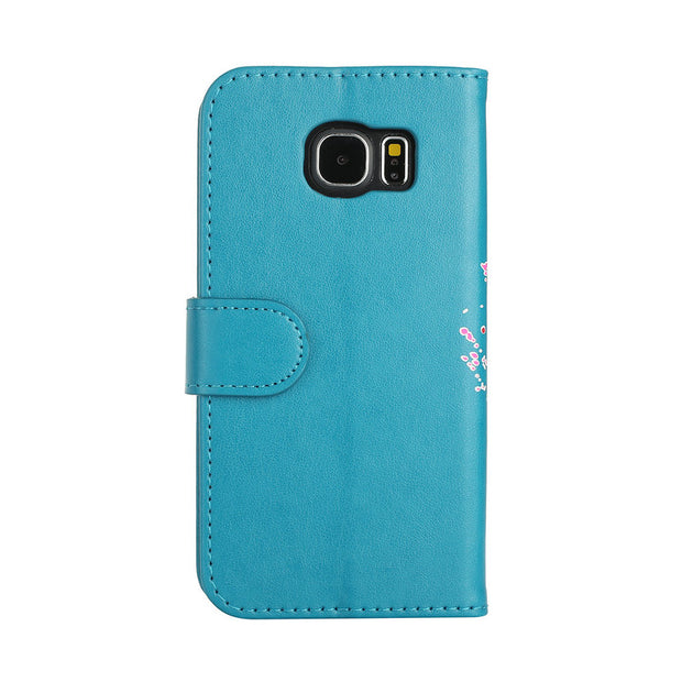 Fashion Flamingo Wallet Case For Coque Samsung S6 Case Etui Samsung S6 Edge Cover Flip Armor For Samsung Galaxy S6 S 6 S6Edge