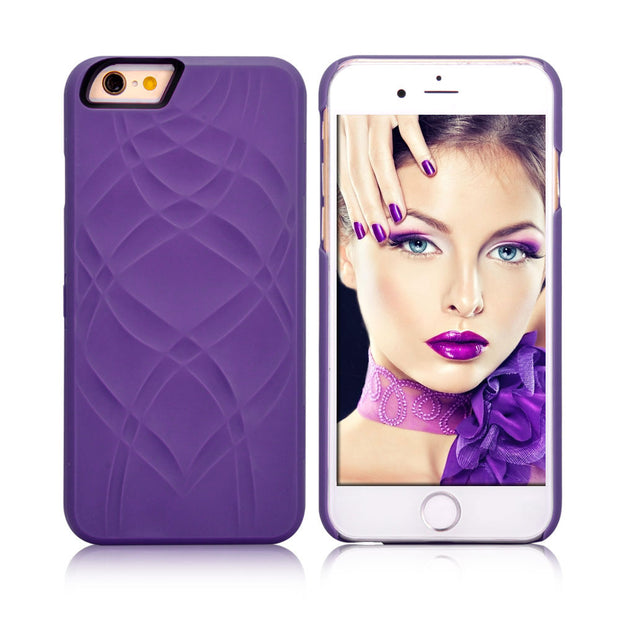 Fashion Lady Make UP Mirror Case For Iphone 6 6S 4.7 / Plus 5.5 Flip Cases PU Leather Card Slot + Hard PC Back Cover Dual Layer