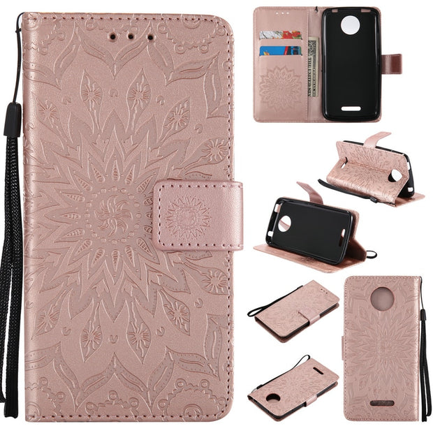 Fashion Pattern Pouch For Motorola MOTO C Plus Case Wallet Flip Leather & Silicone Back Skin For Coque MOTO C Cover Stand Fundas