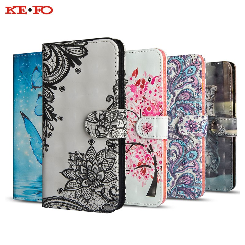 Flip Case For Lenovo K6 NOTE K6 Power K8 Note 3D Vision Painted Leather Stand Wallet Cover For Lenovo A1010 S60 S60T S1 P2 C2