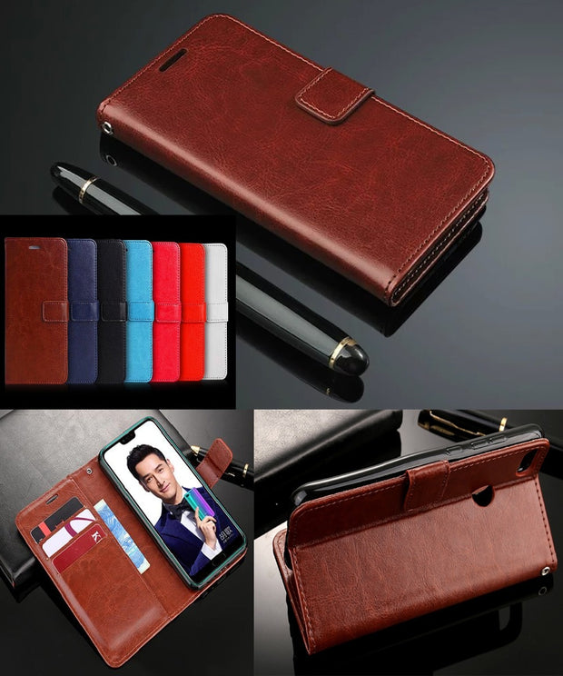 For Huawei Honor 7 Case Luxury Leather Flip Wallet Case On Honor7 Phone Capa Bag Back Cover Coque For Huawei Honor 7i