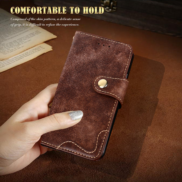 For Huawei Honor 7 Cover Case Cash Holder Rivet Style Leather Flip Wallet Stand Case For Huawei Honor7 Phone Bag Back Cover
