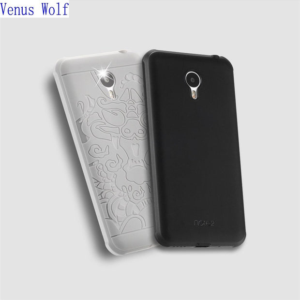 "For Meizu M2 Note Case 5.5"" 3D Carved Dragon Pattern Case For Meizu M2 Note Cover NEW Rubber Armor 360 Full Protective Phone Bag"