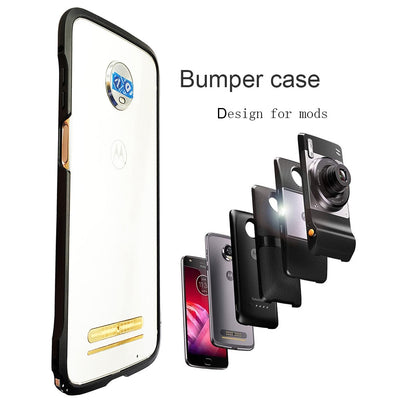 For Moto Motorola Z3 / Z3 Play / Z2 Play / Z2 Force Shockproof Protective Bumper Case Cover For Moto Mods Back Cover Case