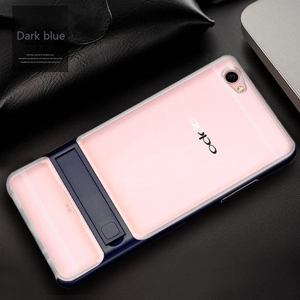 "For OPPO R9s Plus 6.0"" Case Full Protective Xnyocn TPU & Acrylic Transparent Back Cover Cases Phone Holder For R9s Plus"