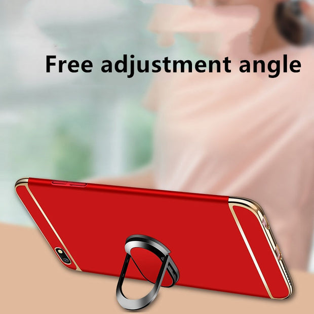 For Oppo A37 Case A77 Hard Frosted Cover Magnet Car Ring Holder Phone Case For Coque Oppo A37 Cover Fundas For Oppo Neo 9 Capa