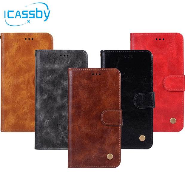 For Samsung Galaxy J3 2018 Case Leather Wallet Magnet Cover For Samsung J3 2018 Cases Flip Cover Silicone Mobile Phone Shell