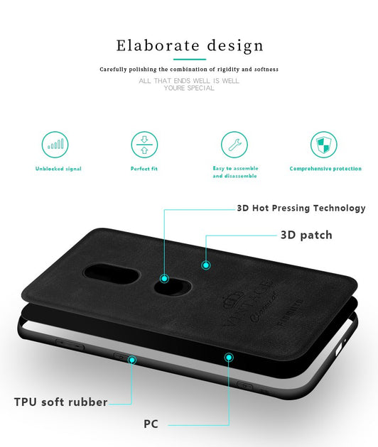 For Sony Xperia XZ3 Case Soft TPU + Hard PC Cover PINWUYO Luxury Phone Case  For Sony Xperia XZ3 Protective Shield Shockproof