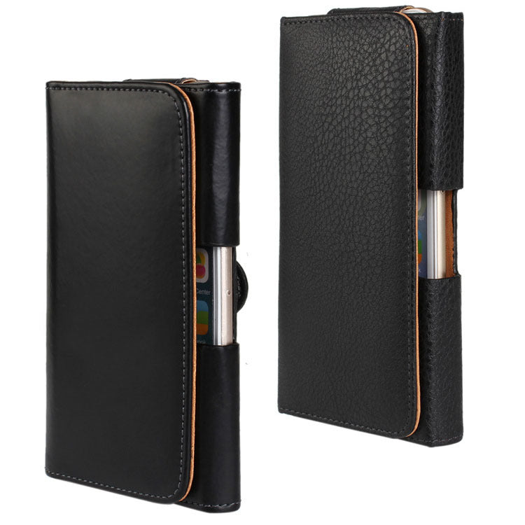 "For IPhone 6 Plus 5.5"" Luxury PU Leather Waistband Belt Waist Clip Hanged Anti Drop Leather Phone Cover Case"