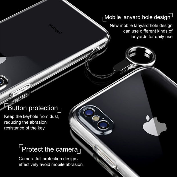 For IPhone X Case Cover IMAK High Quality PC Hard Case For IPhone X Camera Full Protection Cover For Apple IPhone X 5.8''