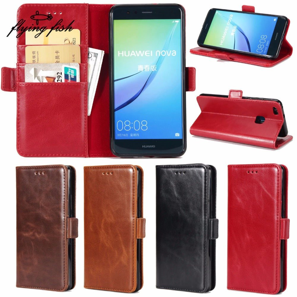 Fundas For HUAWEI Nova Lite 5.2 Inch Card Holder Cover Case For Huawei P10 Lite PU Leather Phone Cases Wallet Flip Cover Capa