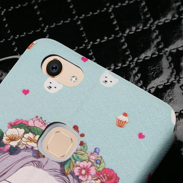 "Funny Patterned Cartoon Cute Leather Flip Cover Phone Case For BBK Vivo V7 / Vivo Y75 (5.7"") Case With Magnet And Lanyard MC02"