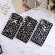 Glitter Shining Crocodile Sequins Case For Samsung Galaxy S8 S9 S9 Plus Flash Cute 3D Metal Silicone Frame Brand Cover Bottle
