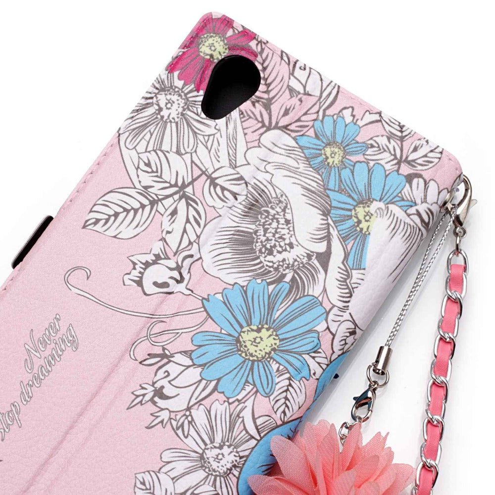 "Go2linK Luxury 3D Painted For Coque Sony Xperia L1 Case Wallet Flip Leather Case Card Slot For Sony Xperia L1 Case 5.5"" Cover"