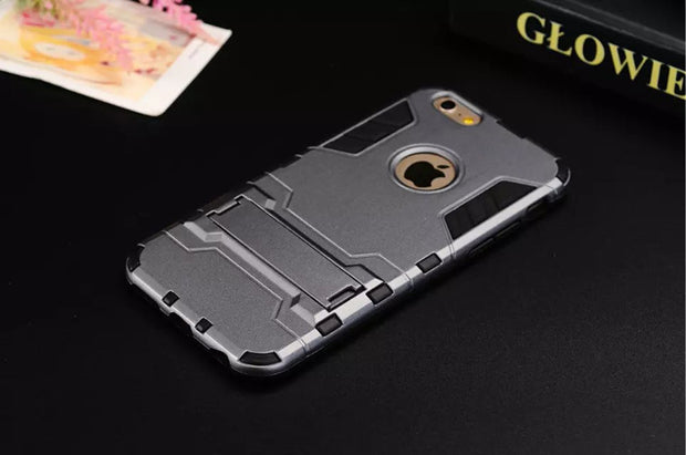 Hard Cover Hybrid Hard Tough Dual Layer Armor Case For Iphone X 8 7 6 6s Plus Shockproof TPU Plastic Covers Cases