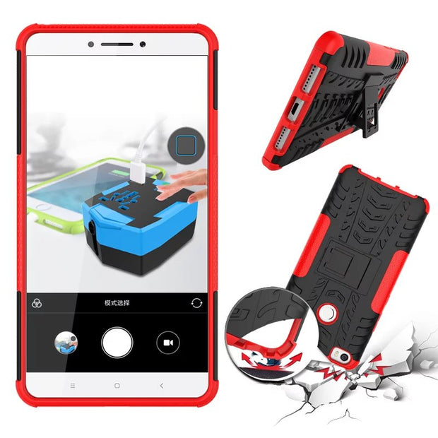 Heavy Duty Cover Stand Case For Xiaomi Max 6.44 Inch Case Shockproof Absorbing Cover Hard Case