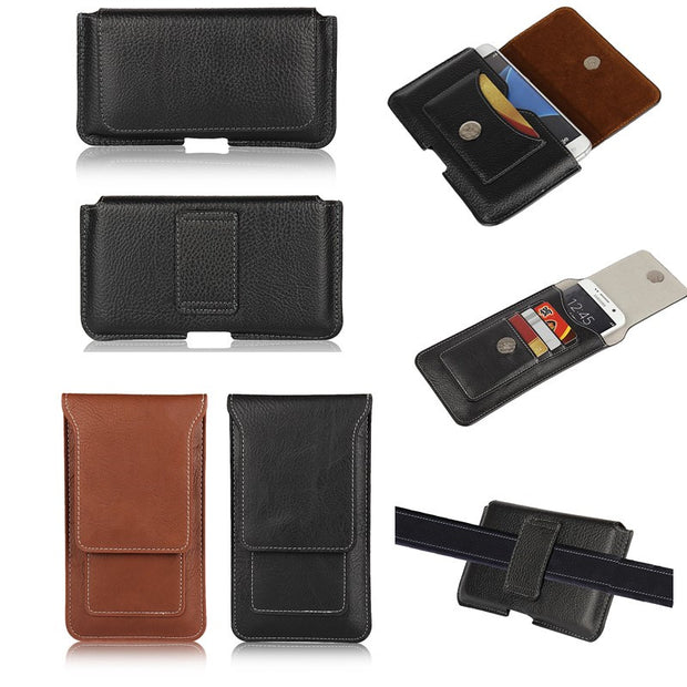 Holster Case For Sony Xperia Z5 Z5 Compact Belt Clip Leather Pouch  Universal Bag Cover Phone Coque Etui For Sony Z5 Premium Capa