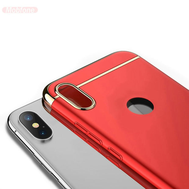Honor 8X 6.5'' Case Plating 3 In 1 Ultra Thin Slim Matte Back Funda Case Cover For Huawei Honor 8X 8 X Phone Capa Shell Cases