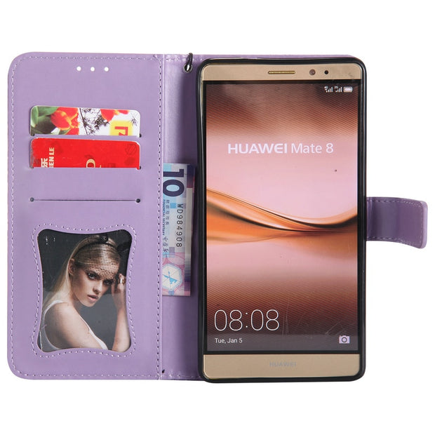 Huawei Mate8 Case Luxury PU Leather Flip Phone Holder Stand Wallet Case For Huawei Mate 8 Silicone Back Cover Coque Fundas Armor