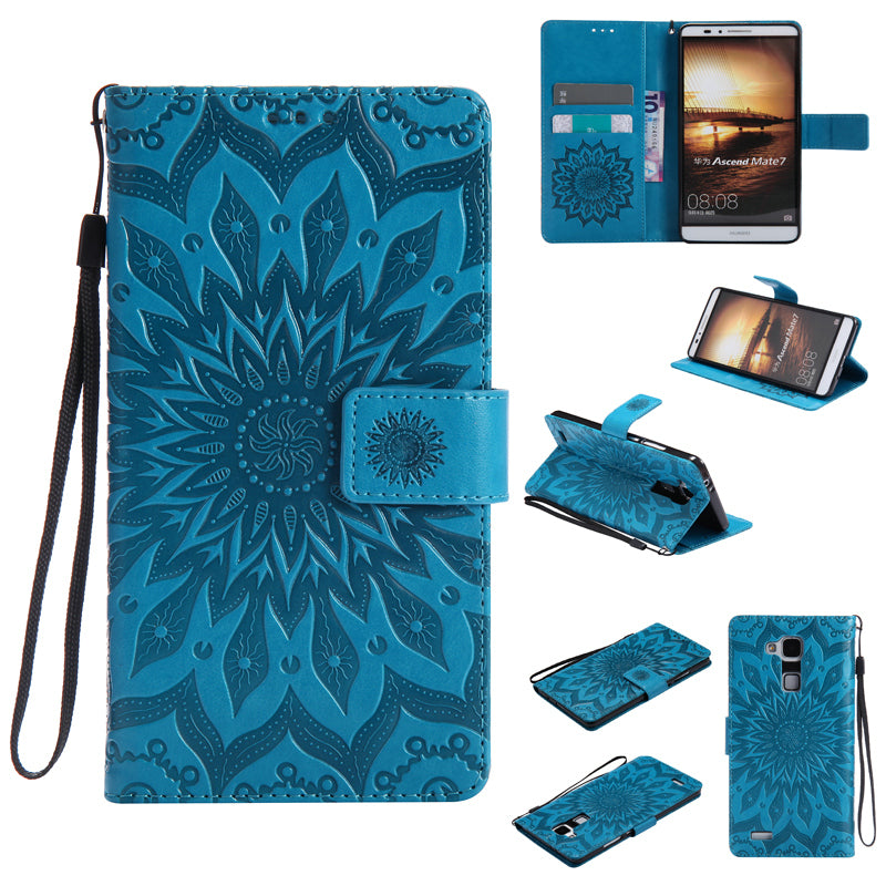 Huawei Mate 7 Case PU Leather Armor Wallet Flip Phone Case For Huawei Mate 7 Back Cover Funda Huawei Mate7 360 Full Protection