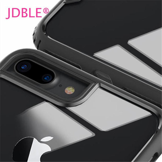 JDBLE Tempered Glass Back Case For IPhone X 8 8Plus Luxury Solid Full Glass Protection Case For IPhone6 6S 6SPlus 7 7Plus Cover