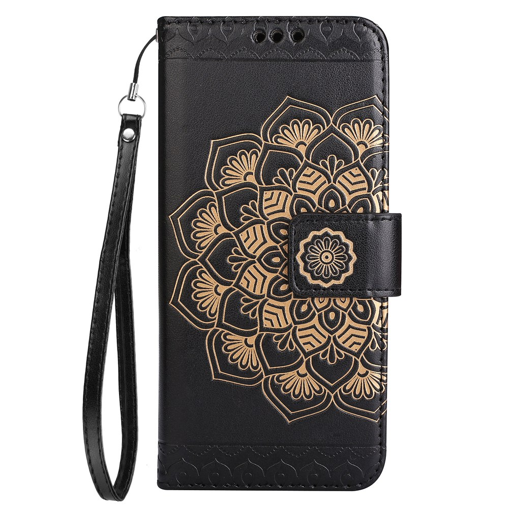JETJOY Luxury Deluxe Leather Card Pocket Kickstand Cover Flower Pattern Magnet With Phone Strap Coque For Apple IPhone 7 Case