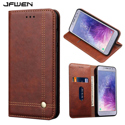 JFWEN Luxury Phone Cases For Samsung Note 9 Case Leather Flip Wallet For Samsung Galaxy Note 9 Case Cover With Card Slot Holder