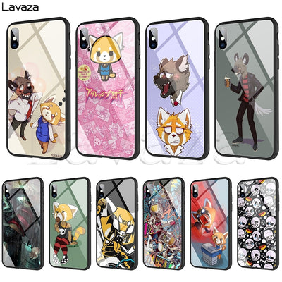 Lavaza Aggretsuko Tempered Glass TPU Case For IPhone XS MAX XR X 8 7 6 6S Plus
