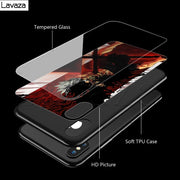 Lavaza Black Clover Tempered Glass TPU Case For IPhone XS MAX XR X 8 7 6 6S Plus