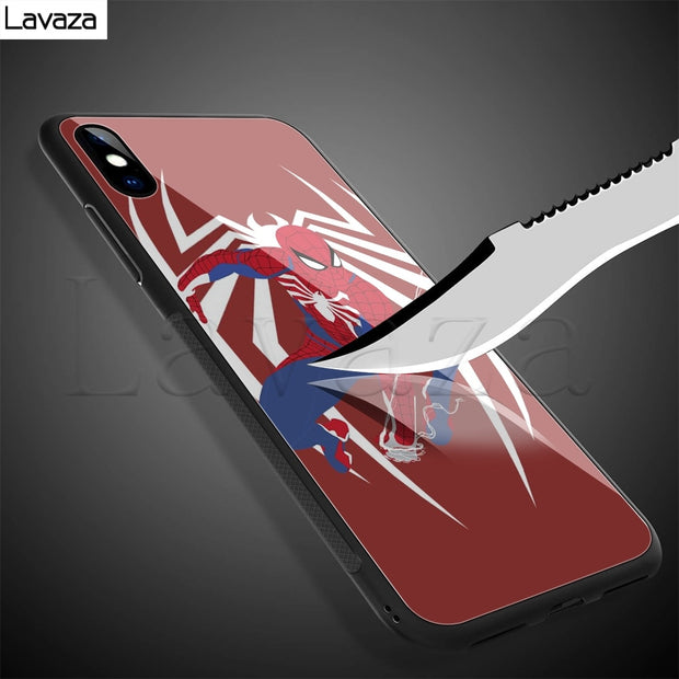 Lavaza Spider-Man Into The Spider-Verse Tempered Glass TPU Case For IPhone XS MAX XR X 8 7 6 6S Plus