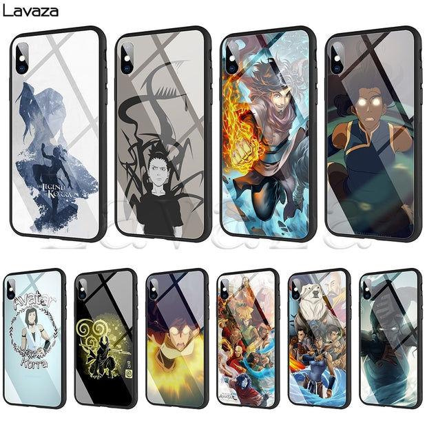 Lavaza The Legend Of Korra Tempered Glass TPU Case For IPhone XS MAX XR X 8 7 6 6S Plus