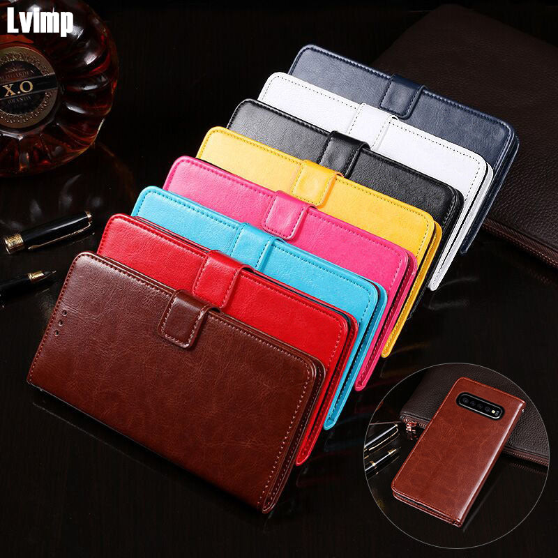 Leather Case For Samsung Galaxy S10+ Plus G975N G975U Case Phone Coque Fundas Flip Wallet Cover For Samsung S10 Plus G975FD Case