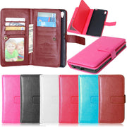Leather Wallet Case With Card Holder For Sony Xperia Z5 Plus Z5+ E6883 Phone Cases Flip Cover Magnetic Fundas For Sony Z5plus