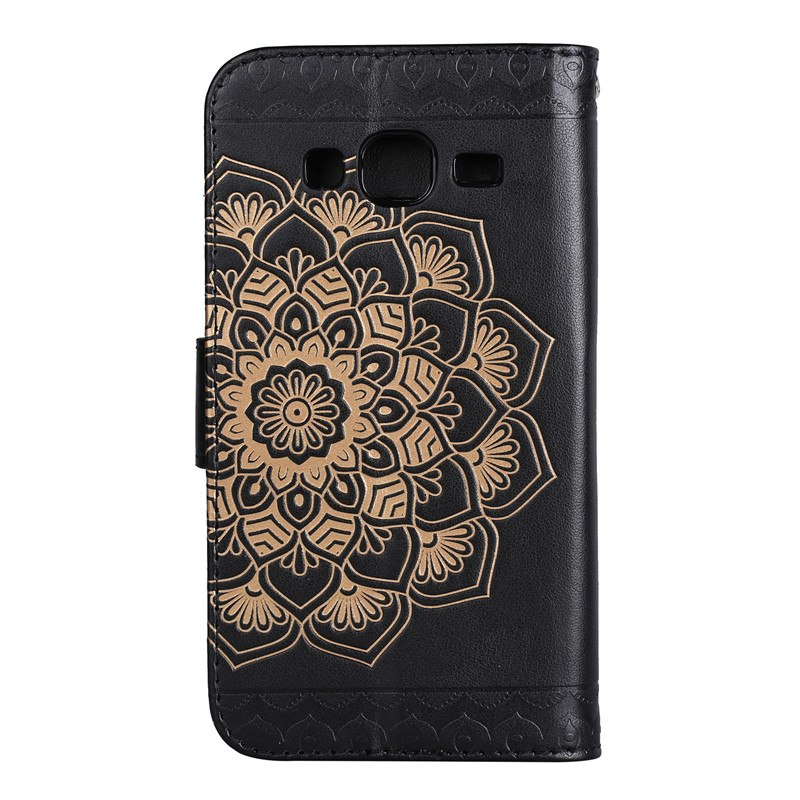 Luxury 3D Flower Leather Flip Fundas Brand Cases For Coque Samsung Galaxy J3 2015 J300 SM-J300F J5 2015 J500 SM-J500F Cover Case