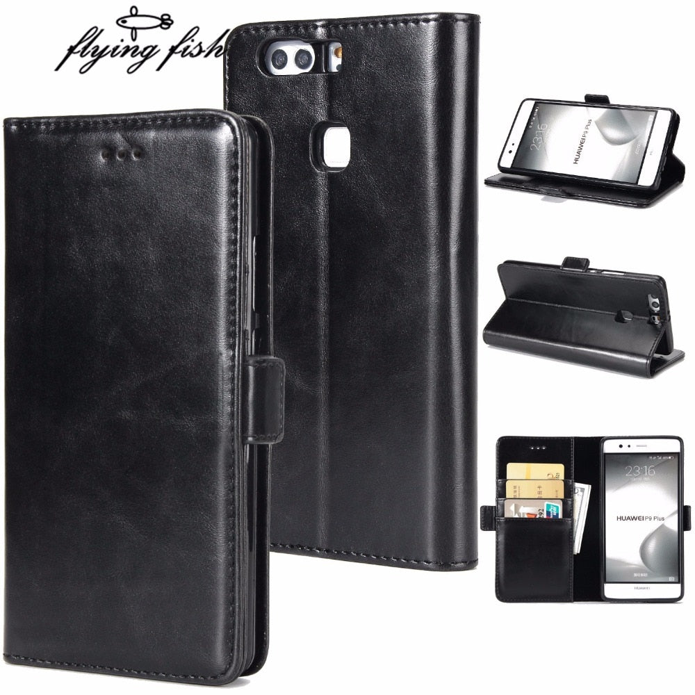Luxury For Huawei P9 PLUS Case Cover Flip PU Leather Wallet Silicone Back Cover For Huawei P9Plus VIE-AL10 Case Fashion Style